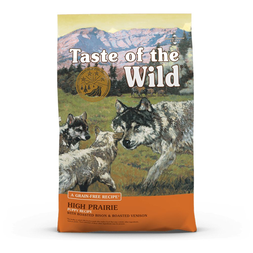 Taste Of The Wild High Prairie Puppy Recipe with Roasted Bison & Roasted Venison 28 Lb