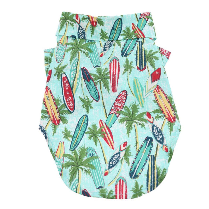 Doggie Design Hawaiian Camp Shirt - Surfboards and Palms