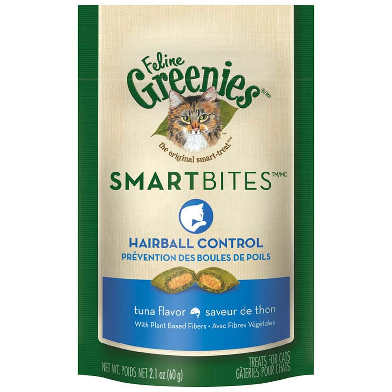 Feline Greenies Smartbites Hairball Control Tuna for Cats