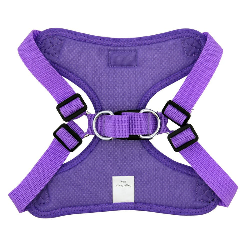 Doggie Design Paisley Purple Wrap & Snap No Choke Harness