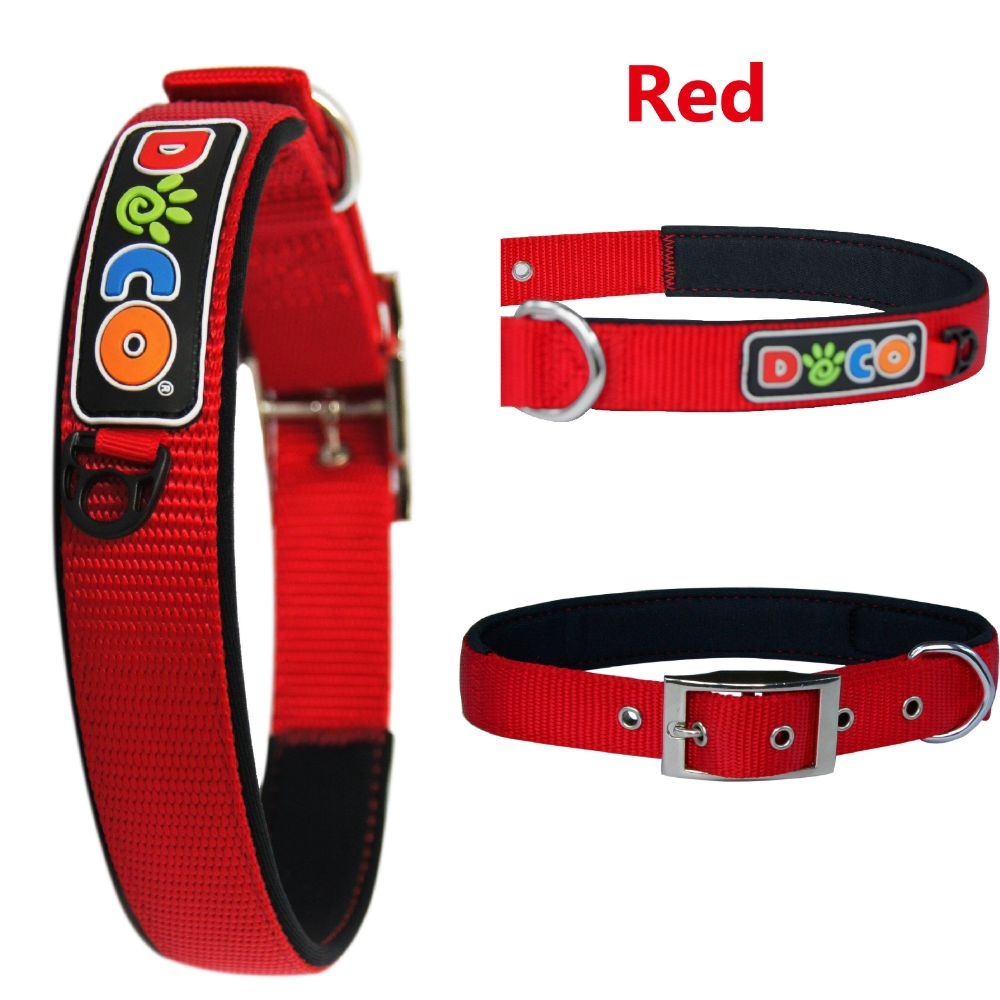 DOCO Signature Zinc Buckle Neoprene Nylon Collar