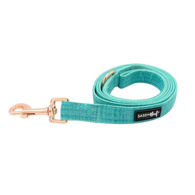 Sassy Woof Wag Your Teal Leash