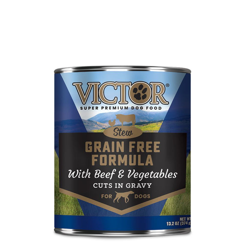 Victor Grain Free Formula with Beef and Vegetables Cuts in Gravy