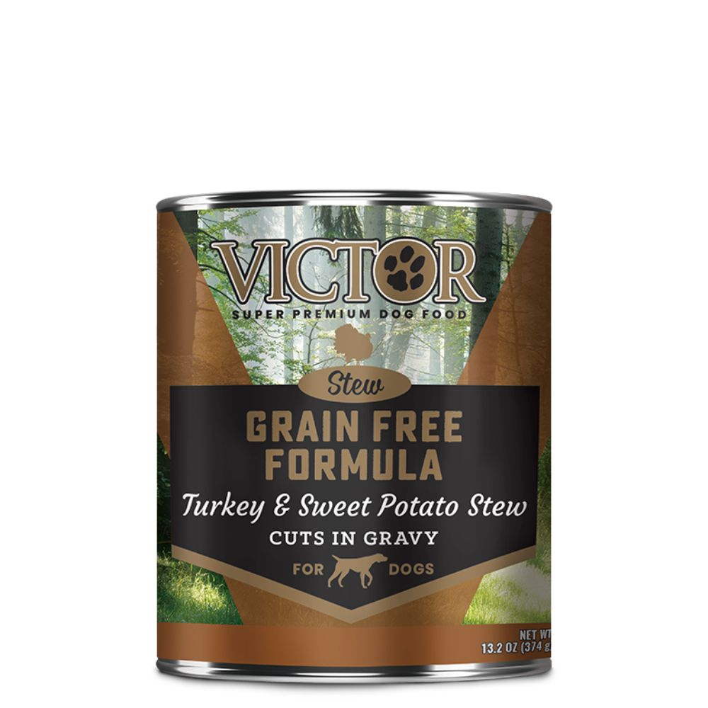 Victor Grain Free Formula Turkey and Sweet Potato Cuts in Gravy
