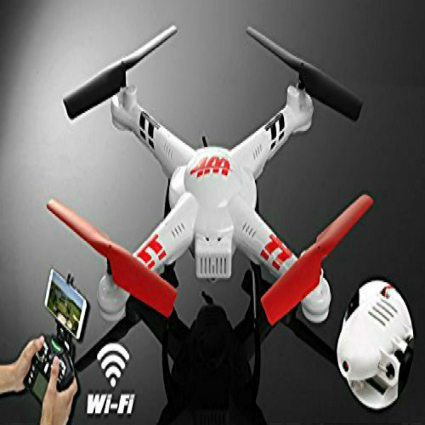 SkyCo V686K WiFi FPV Quadcopter Drone with Camera Live Video HD 720P Android/iOS APP Compatible with 3D VR Headset,One-Key Return & Headless Mode & 360 Degree Flips Roll Real-time Video
