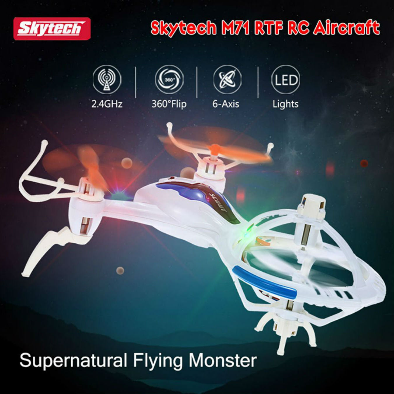 SkyCo M71 / X51 Spaceship 2.4G 6 Axis Gyro Remote Control 3D Flip RTF RC Quadcopter Mini Drone