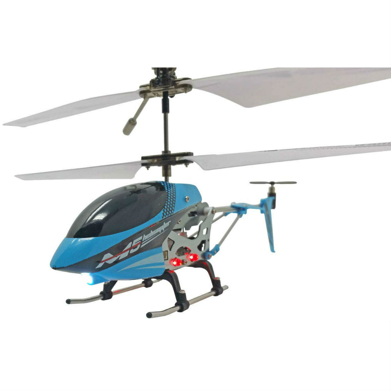 SkyCo M5 3 Channel RC Radio Mini Alloy Remote Control Helicopter with Gyro for Kids and Beginners (Blue)