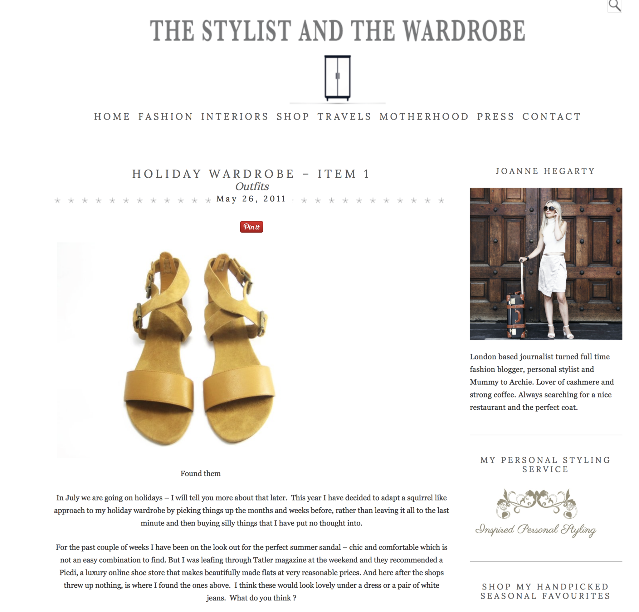 The Stylist and The Wardrobe, May 2011