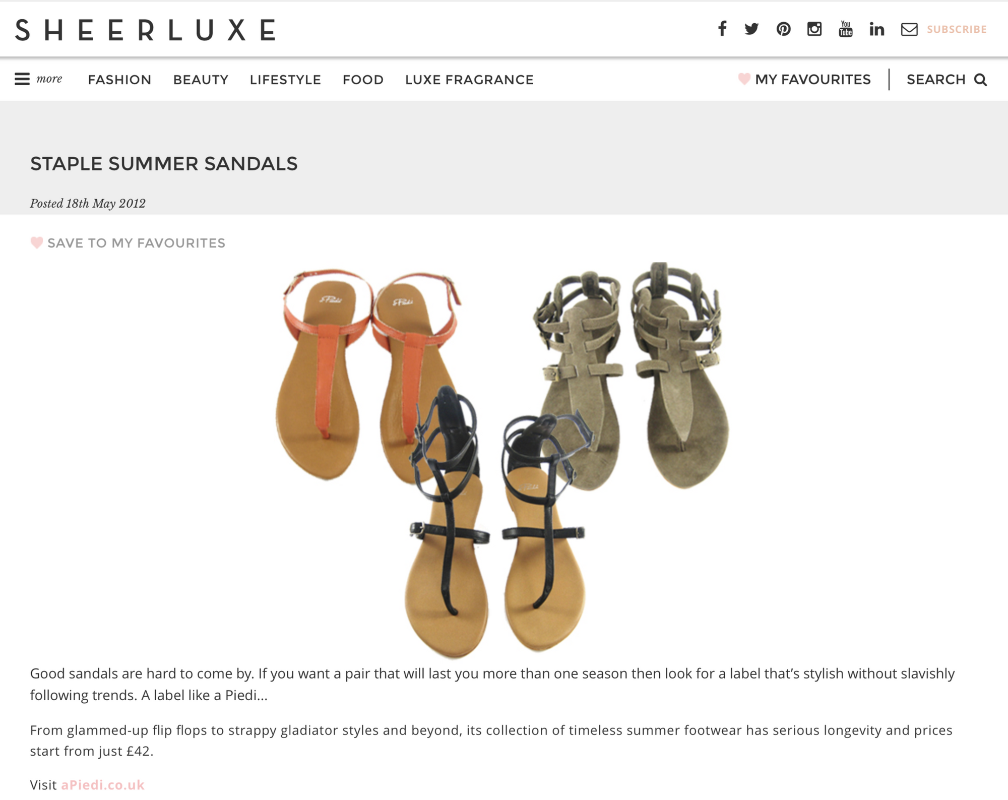SheerLuxe.com, May 2012