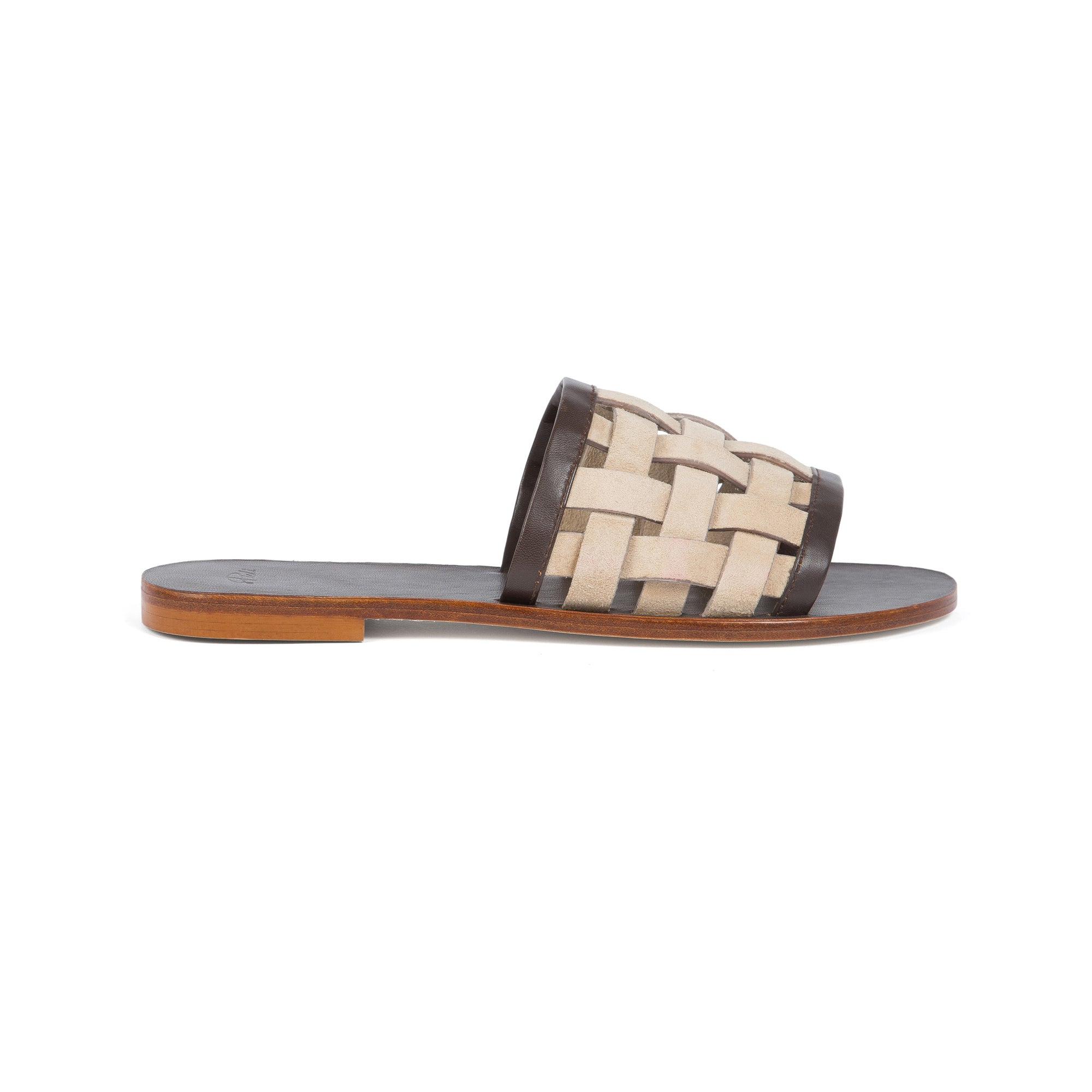 LOUNGER (Beige Suede/Brown)