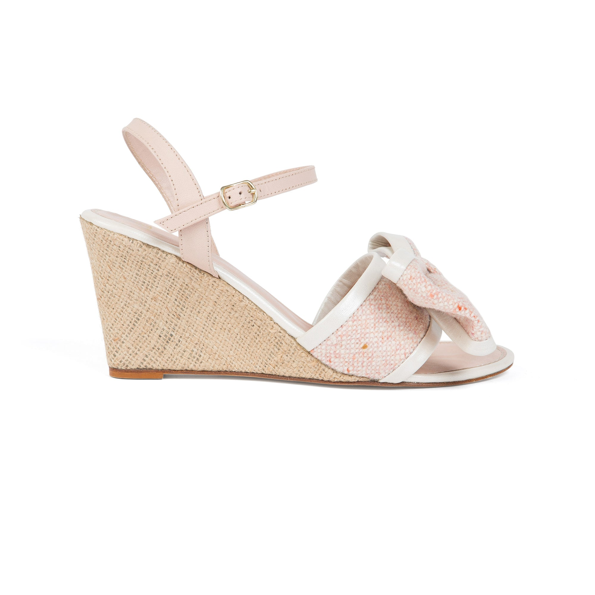 LILY WEDGE (Pink Tweed/Pearl))