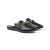 BACKLESS LOAFERS (Black)