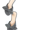 Bow Slide (Grey) | Amanda W-B for a Piedi