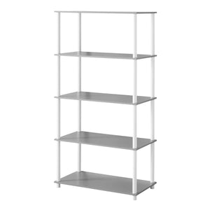 Mainstays No Tools 4 Shelf Standard Storage Bookshelf, Gray