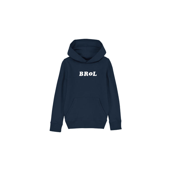 Sweat | Sweat Brol enfant Navy en coton recyclé