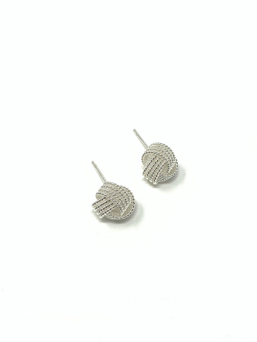 Earrings knot Ohrstecker Knotenohrringe silber
