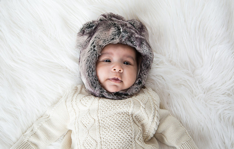 KOALA BEAR FUR HAT - myhappybump