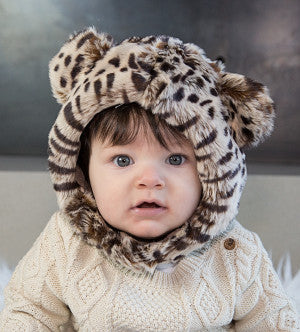 CHEETAH FUR HAT - myhappybump