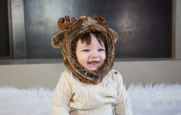 MOOSE FUR HAT - myhappybump
