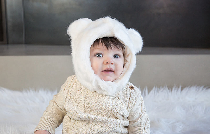 POLAR BEAR FUR HAT - myhappybump