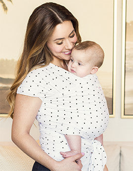 Black Dot Baby Wraps - myhappybump