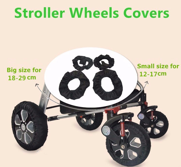 4 Pcs Stroller Wheels Covers - myhappybump