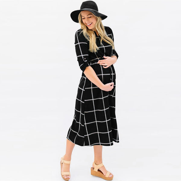 Nina Plaid Dress - myhappybump