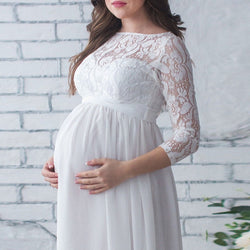 Daisy Lace Gown - myhappybump