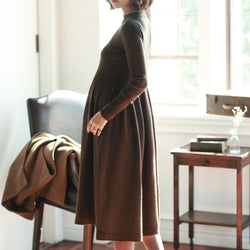 ZIBA Winter Maternity Dress - myhappybump