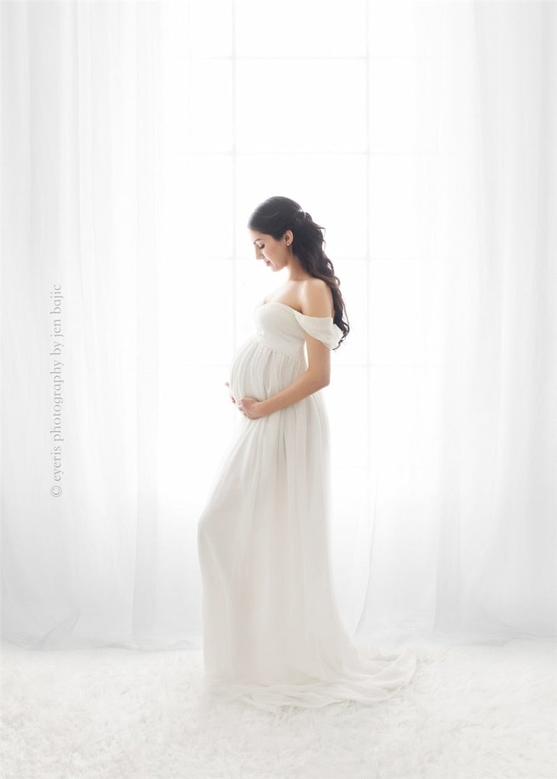 Slit Open Maternity Dresse