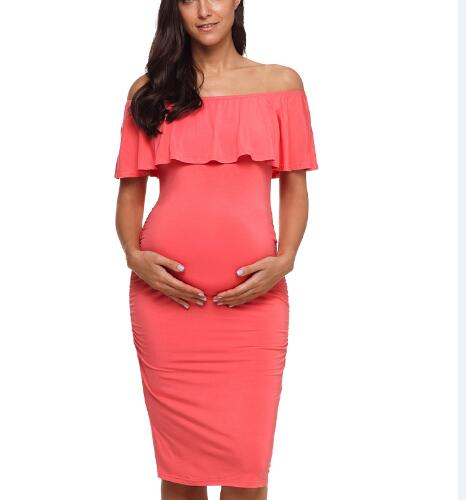 Off Shoulder Pregnancy Dress - myhappybump