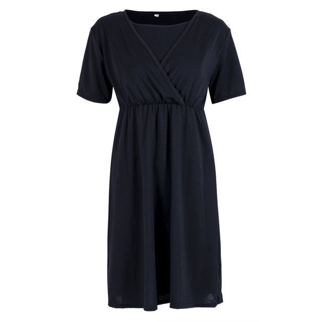 Solid Nursing Dress