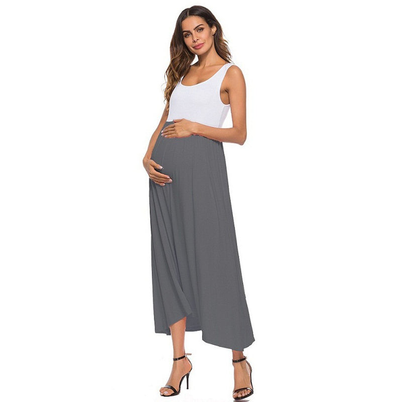 Color Block Maxi Maternity Dress - myhappybump