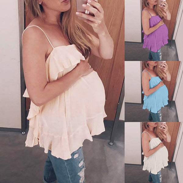 Maternity Sleeveless Blouse - myhappybump