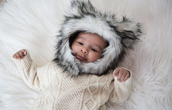 Wolf Fur Hat - myhappybump