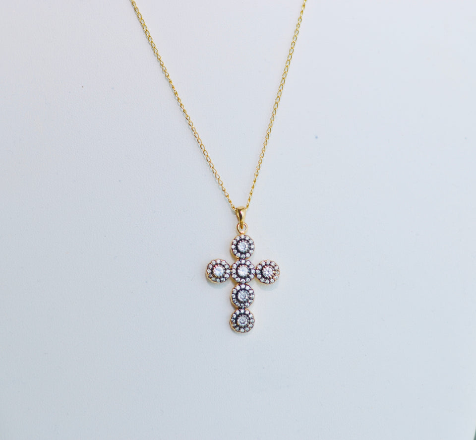 Ela Cross Necklace