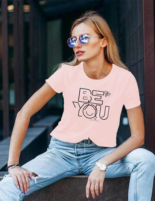 BE YOU Ladies Motivational Short Sleeve Shirt - Relax Fit  - PREORDER