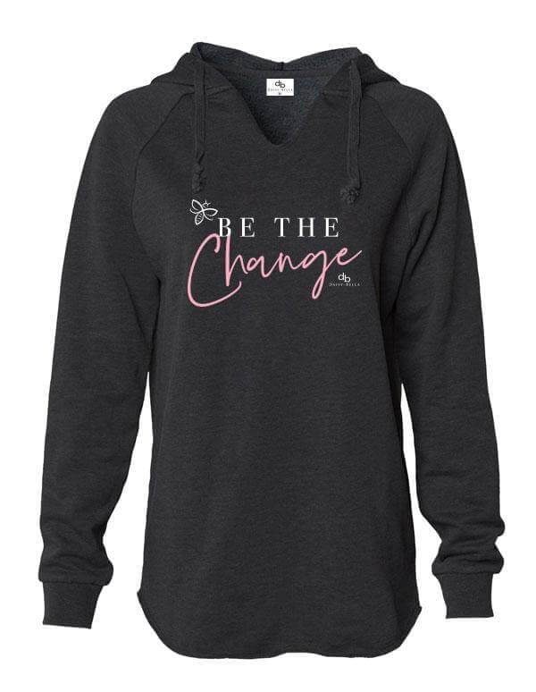 BE THE CHANGE Inspirational Premium Hoodie