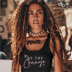 BE THE CHANGE Ladies Inspirational Knit Tank Top