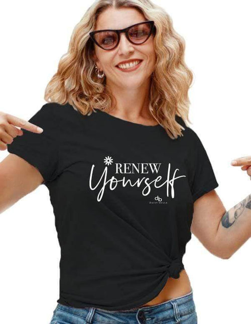 RENEW YOURSELF Unisex Motivational Short Sleeve Shirt
