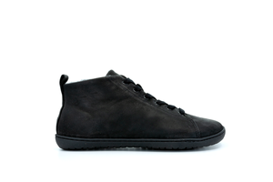 Mukishoes Raw Leather Black