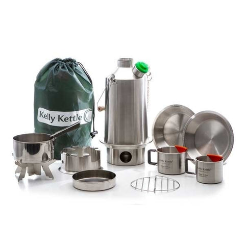 Kelly Kettle Ultimate Sturmkanne 'Base Camp' Kit (Edelstahl)