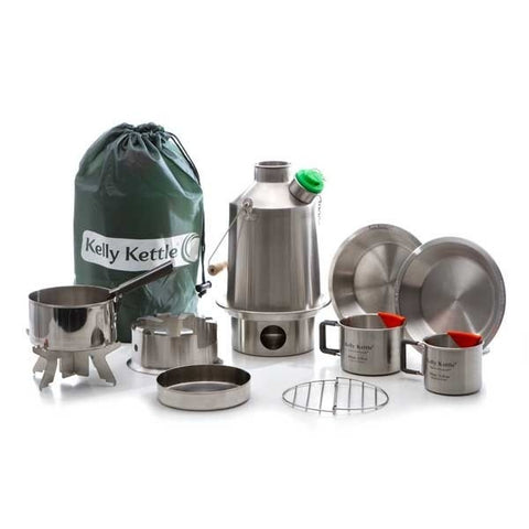 Kelly Kettle Ultimate Sturmkanne 'Scout' Kit (Edelstahl)