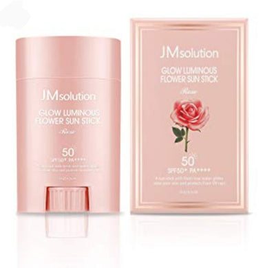 JMsolution - Glow Luminous Flower Sun Stick SPF 50+ PA++++ - kmade cosméticos coreanos