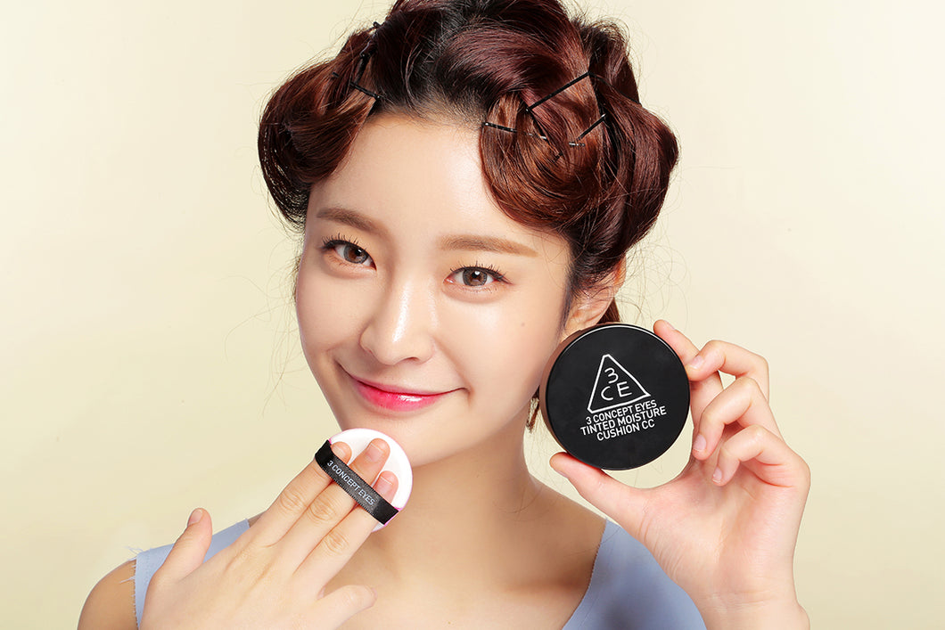 [3CE] TINTED MOISTURE CUSHION CC SPF50+, PA+++ (Cushion + Refil)