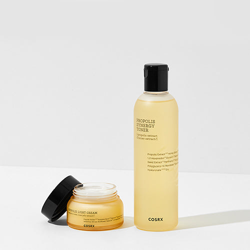 [COSRX] Propolis Light Cream (65ml) + Propolis Synergy Toner (280ml) - 30%OFF - kmade cosméticos coreanos