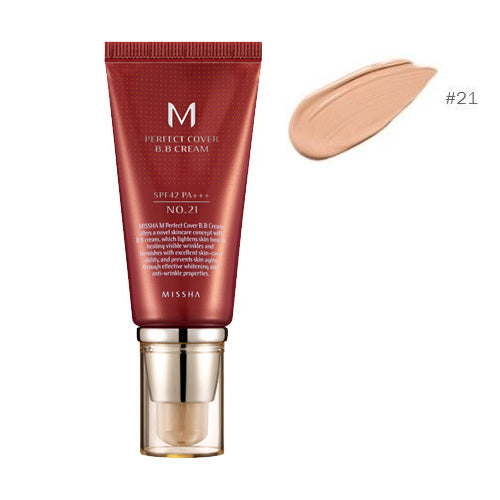 [MISSHA] M Perfect Cover Blemish Balm BB Cream #21 - 50ml (SPF42 PA+++) - kmade cosméticos coreanos