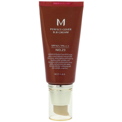 [MISSHA] M Perfect Cover Blemish Balm BB Cream #23 - 50ml (SPF42 PA+++) - kmade cosméticos coreanos