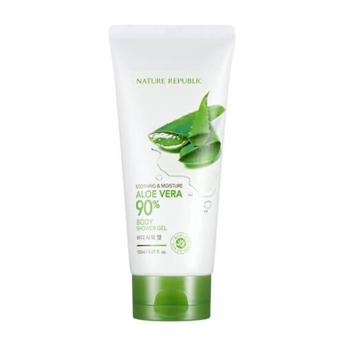 [NATURE REPUBLIC] Soothing & Moisture Aloe Vera 90% Body Shower Gel - 150ml - kmade cosméticos coreanos