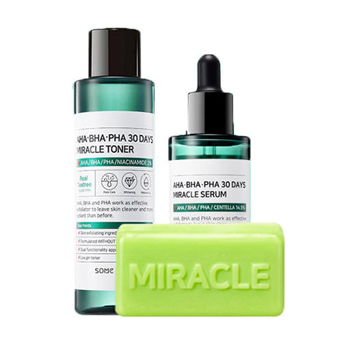 [SOME BY MI] AHA BHA PHA TONER + SERUM + CLEANSING BAR [40% OFF] - kmade cosméticos coreanos
